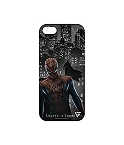 Vogueshell Spiderman VS Batman Printed Symmetry PRO Series Hard Back Case for Apple iPhone SE