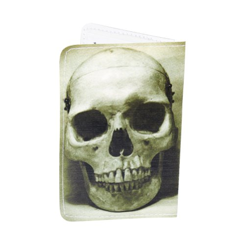 green-skull-business-credit-id-card-holder