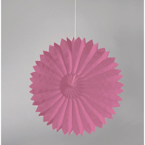 "Paper Tissue Fan 22"" - Candy Pink - 1"