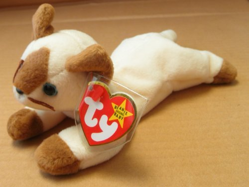 TY Beanie Babies Snip the Cat Stuffed Animal Plush Toy - 6 inches long - 1