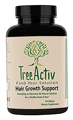 TreeActiv All-Natural Hair Growth Herbal Supplement and Vitamin Complex. With Biotin + 28 Vital Active Ingredients for Accelerated Hair Growth, Reduced Hair Loss & Thicker Looking Hair. A Hair Growth Solution that Works - 100% Satisfaction Guarantee. Made