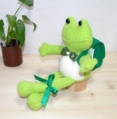 Plush bag 'frog' Glyn 8a116-4