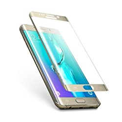 MoArmouz® Edge to Edge Screen Guard For Samsung Galaxy S6 Edge Plus: Most Durable Tempered Glass Screen Protector With High Transparency - Just 0.2mm Slim For Unbeatable Usability - Gold / HD /9H Hardness 3D Touch Compatible / Mobile Accessories / Screen Protectors
