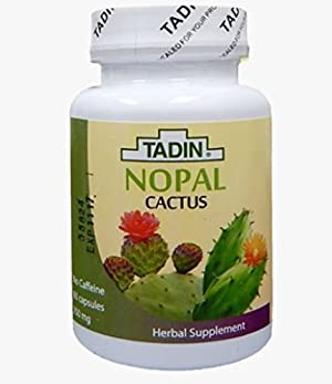 Tadin Tea, Nopal , 60-Capsules 350  Mg
