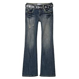 Girls' Xhilaration® Belted Flare Denim - Blue Parrot Products and Promotions
