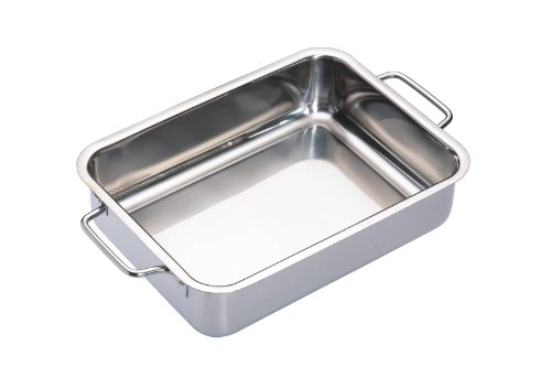 Kitchen Craft Master Class Stainless Steel Heavy Duty Roasting Pan 27 X 20 Cm