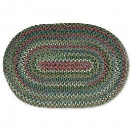 3X5 Old Orchard Braided Rug Olive 3' x 5'