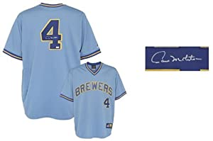 Paul Molitor Milwaukee Brewers Autographed Cooperstown Collection Jersey - Mounted... by Sports+Memorabilia