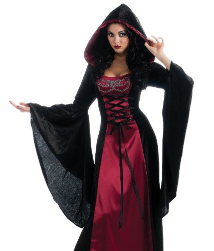 Rubies Costume Co Women's Gothic Enchanters Hooded Robe Costume