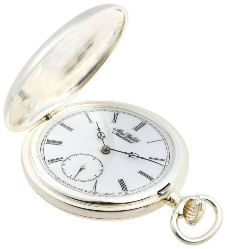 Aerowatch Men's 10593-R Mechanical 925 Sterling Silver Roman Dial Pocket Watch