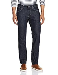 Gant Men's Straight Fit Jeans (8907163391261_GMJZ0001_38W x 32L_Dark Blue)