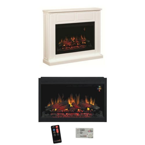 "Complete Set Traditional Design Builders Mantel With 36"" 110V Builders Box Traditional"