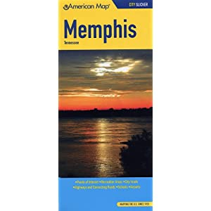 Amazon.com: American Map Memphis, Tennessee: Points of Interest ...