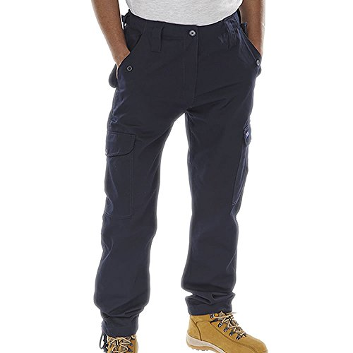 6 tasche Pantaloni Cargo da lavoro Blu Blu navy