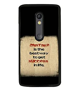 printtech Cool Quotes Success Back Case Cover for Motorola Moto G3 , Motorola Moto G (3rd Gen)