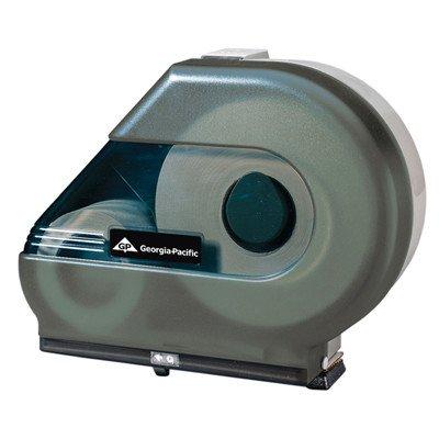 Jumbo Jr. Tissue Dispenser with Stub Roll and Mandrel in Smoke [Set of 4]