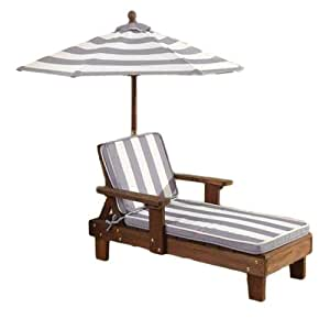 KidKraft Chaise Lounger Gray White Outdoor Furniture Toys