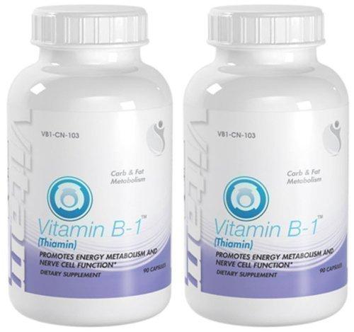 Bionutricals UK Vitamin B-1 Energy Carb & Fat Metabolism Vitamin B-1 100mg 180 Capsules 2 Bottles