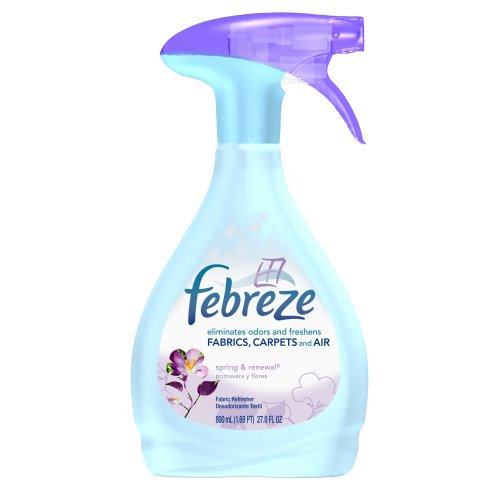Febreze Fabric Refresher, Spring & Renewal, (800 mL) 27-Ounce Bottles (Pack of 6)