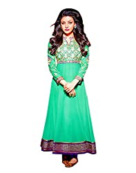 Zerel Women Georgette Dress Material (Ze-738 _Green)