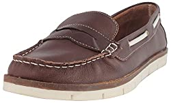 Palma Moda Womens Dark Brown Leather Loafers - 8 Uk