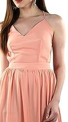 TWIST N WRAPS BY NIDHI Women's Maxi Dress (TNW-BK-1104_L_Peach _Large)