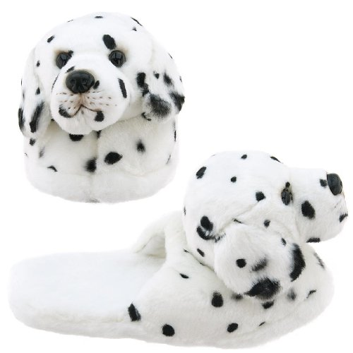 Image of Dalmatian Animal Slippers for Women (B0037TQ0AA)