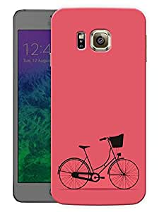 """Humor Gang Minimal Bicycle - Red Printed Designer Mobile Back Cover For """"Samsung Galaxy Alpha"""" (3D, Matte, Premium Quality Snap On Case)"""