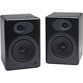 Audioengine 5 - PC multimedia speakers for iPod - 45 Watt (total) - 2-way - black