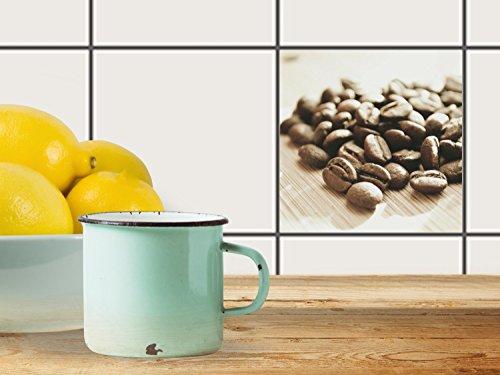 fliesenfolie selbstklebend 15x15 cm 1x1 design coffee beans erholung klebefolie k che bad. Black Bedroom Furniture Sets. Home Design Ideas