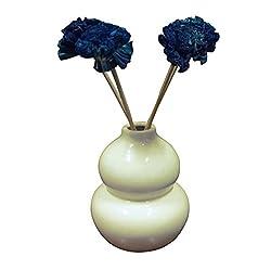 Sanskrite India Flower White Vase Pot Beautiful Home Dcor Gift