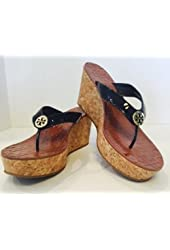 Black Sandal Wedges Womens size 10 US