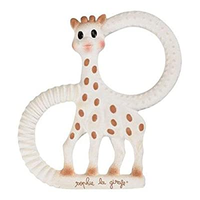 Sophie The Giraffe Teething Ring comes in a gift box