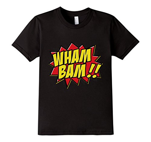 Kids-EmmaSaying-Wham-Bam-Pop-Art-Retro-Teen-Bazooka-Style-Shirt-Black