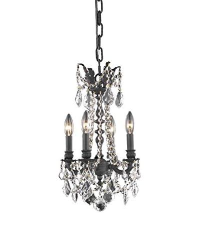 Crystal Lighting Rosalia 4-Light 18 Hanging Fixture, Dark Bronze