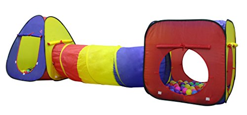 Kiddey 3Pc. Kids Play tent, Cubby-Tunnel-Teepee Pop-up Children ...
