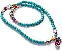 Yazilind Joyería hecha a mano de regalo multi de la turquesa de la vendimia tibetana collar de la astilla de pescado o pulsera colothes Mujeres