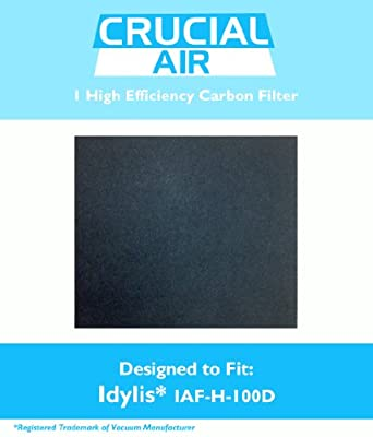 1 Idylis IAF-H-100D Carbon Filter; Fits Idylis Air Purifiers IAP-10-280; Compares to Part # IAF-H-100D & 302656; Designed & Engineered by Crucial Air