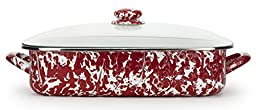 Golden Rabbit Lasagna Pan with Lid, Red