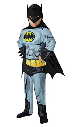 Rubies - Costume Carnevale supereroe Batman Fumetti Deluxe - bambino 3-8 anni