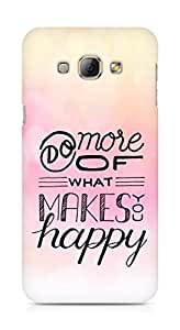 AMEZ do more of what makes you happy Back Cover For Samsung Galaxy A8