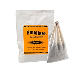 SMELLEZE Reusable Gym Smell Removal Deodorizer Pouch: Destroys Workout Stench Without Scents in 300 Sq. Ft.