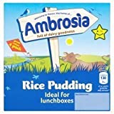 Ambrosia Creamed Rice Pudding 4 X 125G