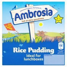 Ambrosia Creamed Rice Pudding 4 X 125G (Creamed Rice compare prices)