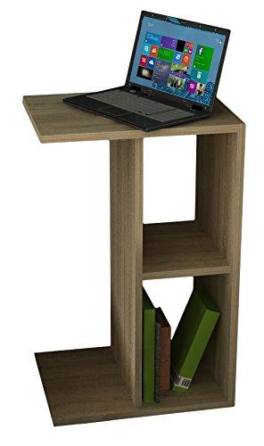 VCM 911212 Couchtisch Nachto-Stand Zeitungständer, Beistelltisch, Nachttisch, 60 x 45 x 40 cm, sonoma-eiche