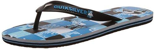 QuiksilverMolokai Check R M Sndl Xkbw - Sandali infradito Uomo , Blu (Bleu (Black/Blue/White)), 44