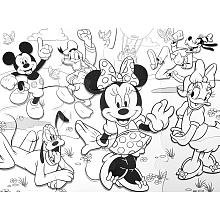 Mickey's Clubhouse Minnie Jumbo Coloring Puzzle