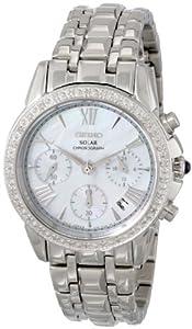 Seiko Women's SSC893 Stainless Steel Diamond-Accented Watch