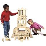 Guidecraft 110 Piece Classroom Unit Blocks Set