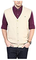 UV&W Men's Cotton Sweater (FWFK3333_S_Champane, Champane Small)